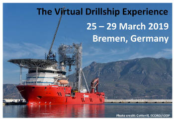 ECORD Training Course 2019 – The Virtual Drillship Experience (25-29 marzo 2019)